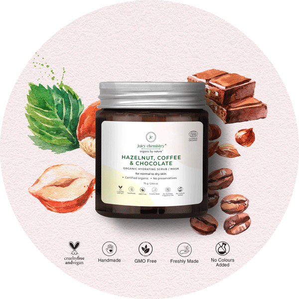 Hazelnut, Coffee & Chocolate Face & Body Scrub - juicychemistry