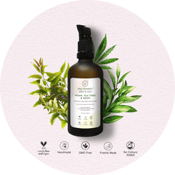 Hemp, Tea Tree & Neem Organic Face Wash - juicychemistry