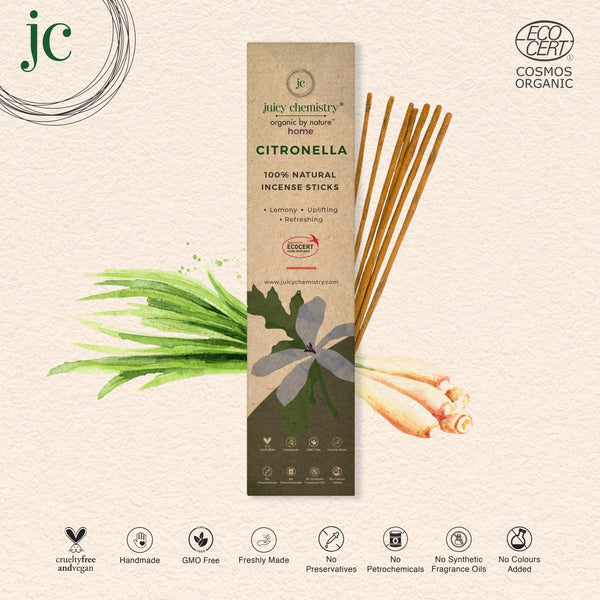 Citronella Hand-rolled Incense Sticks - juicychemistry