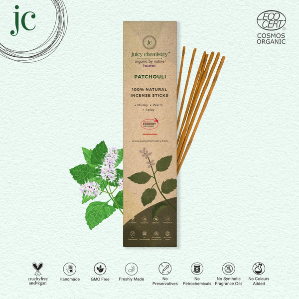 Patchouli Hand-rolled Incense Sticks - juicychemistry