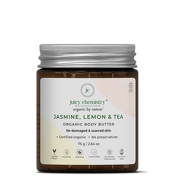 Jasmine, Lemon & Tea Organic Body Butter - juicychemistry