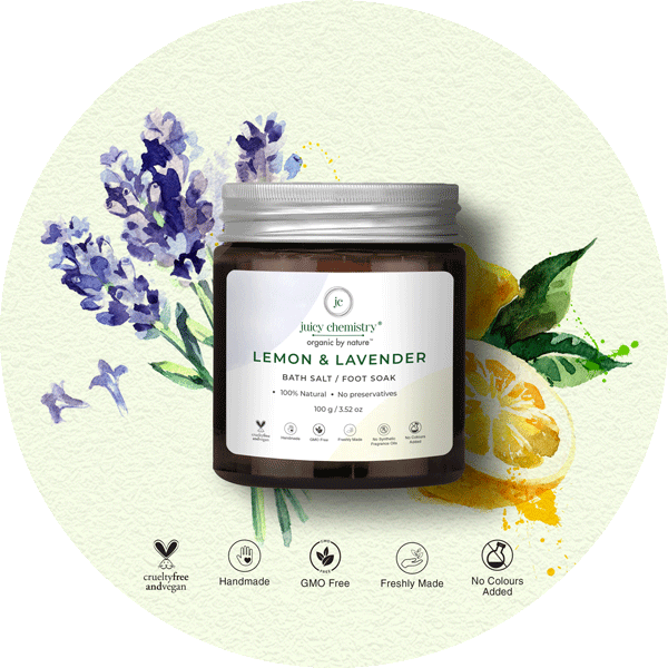 Lemon & Lavender Bath Salt & Foot Soak - juicychemistry