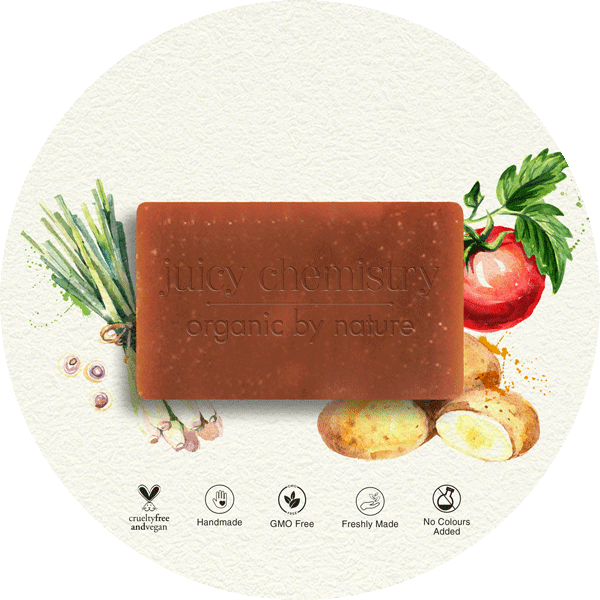 Potato, Tomato & Lemongrass Organic Cold Pressed Soap - juicychemistry