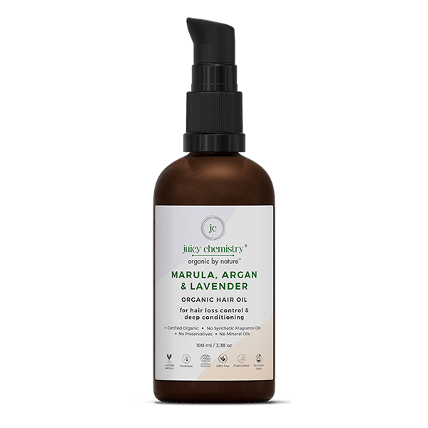 Marula, Argan & Lavender Hair Oil - juicychemistry