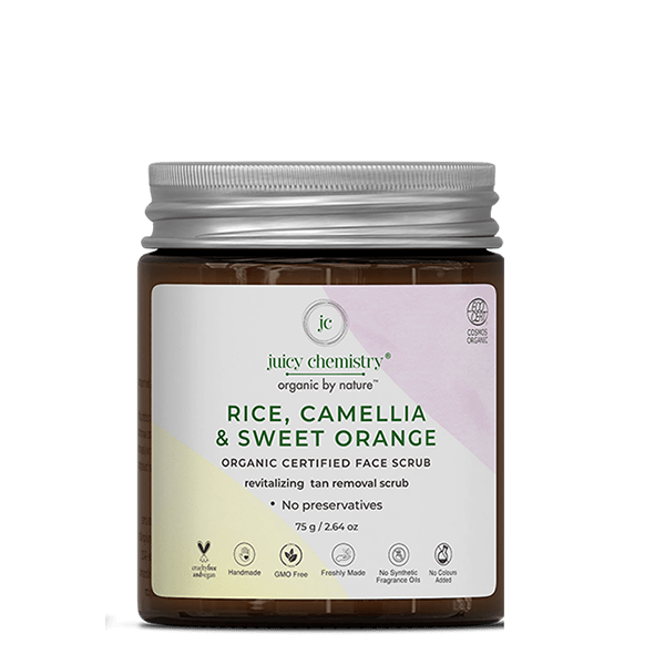 Rice, Camellia & Sweet Orange Face Scrub - juicychemistry