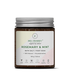 Rosemary & Mint Bath Salt & Foot Soak - juicychemistry