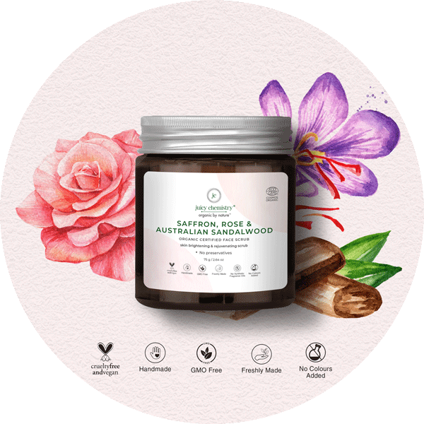 Rose & Saffron Face Cleanse & Scrub