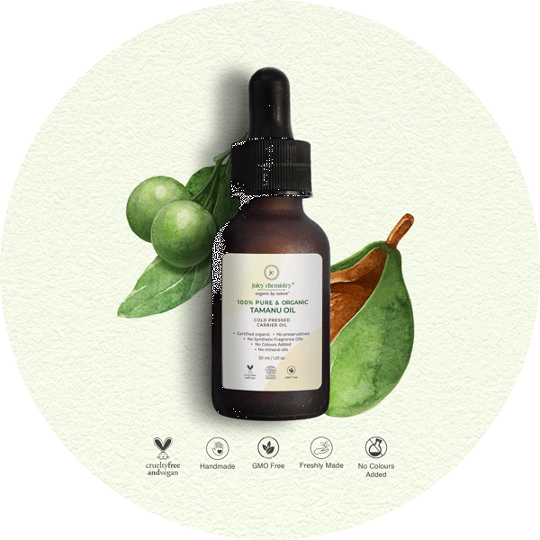 Cold Pressed Tamanu Carrier Oil - juicychemistry