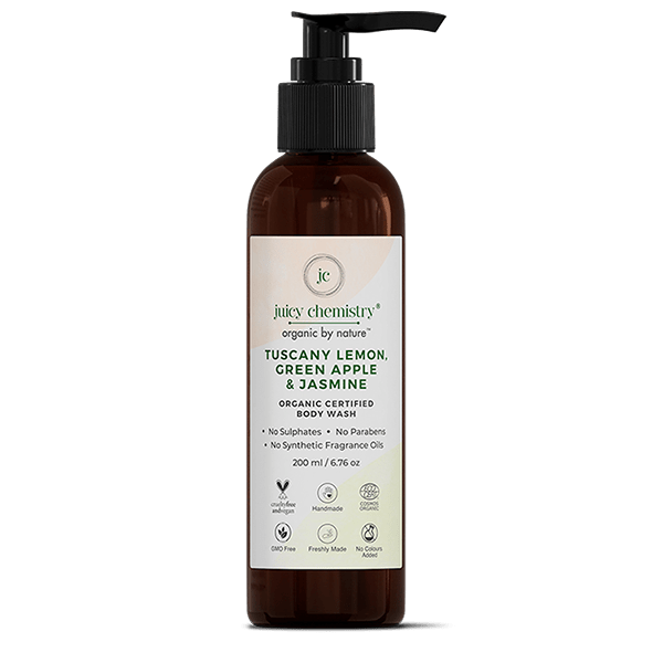 Tuscany Lemon, Green Apple & Jasmine Organic Body Wash - juicychemistry