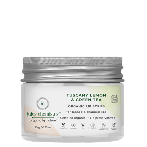 Tuscany Lemon & Green Tea Lip Scrub - juicychemistry