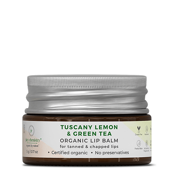 Tuscany Lemon & Green Tea Lip Balm - juicychemistry