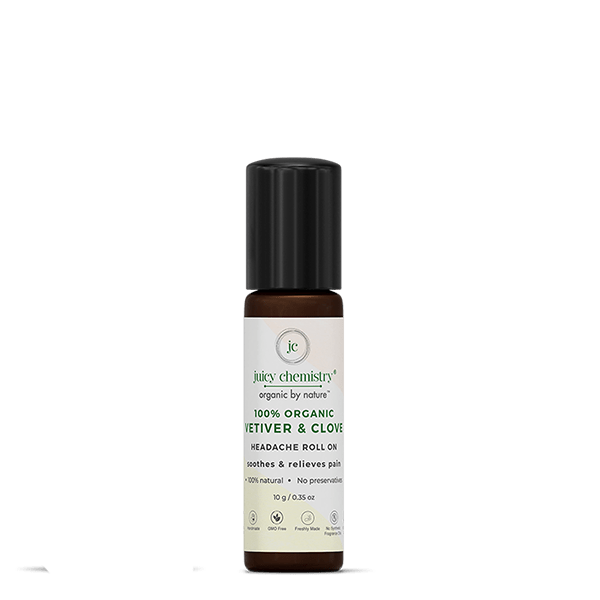 Vetiver & Clove Headache Roll On - juicychemistry