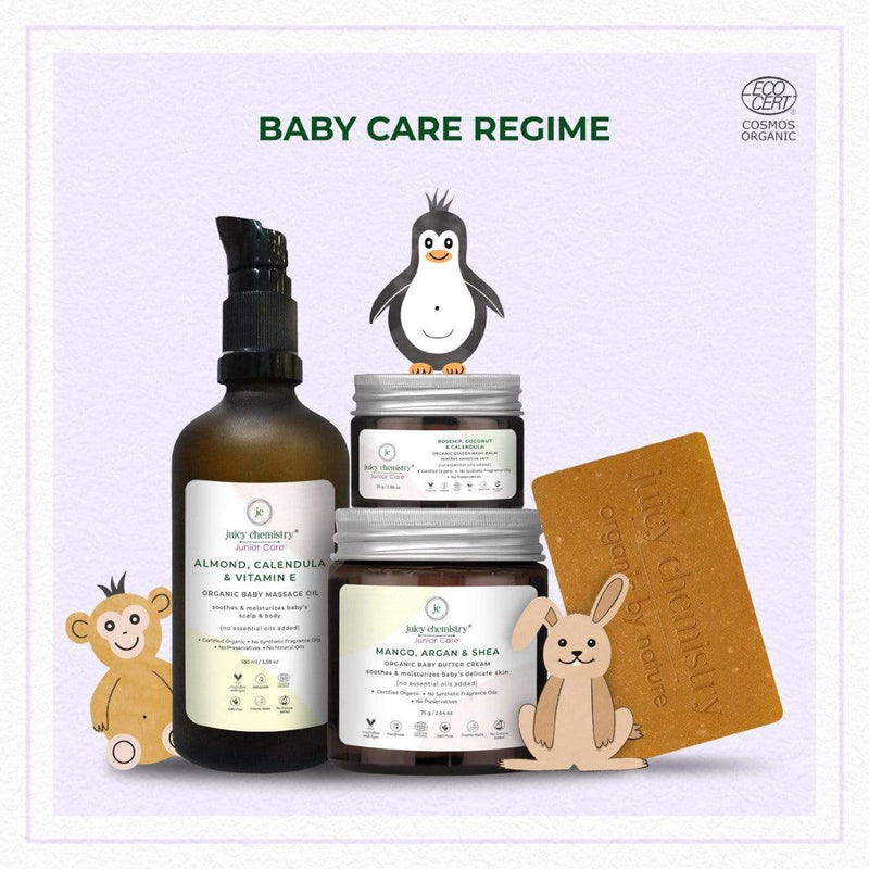 Baby Regime Bundle with Handcrafted Soap - juicychemistry