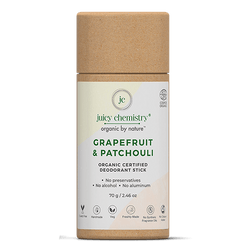Grapefruit & Patchouli Deodorant Stick - juicychemistry