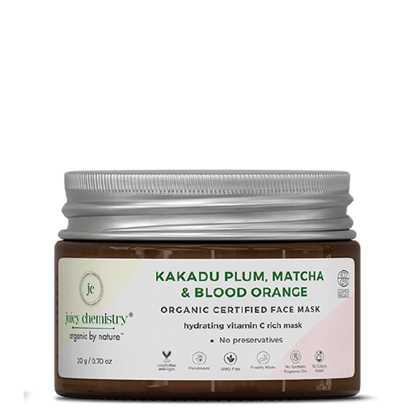 Kakadu Plum, Matcha & Blood Orange Face Mask - juicychemistry