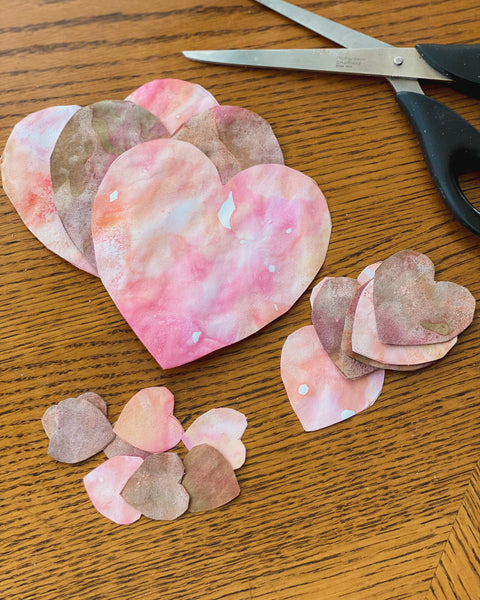 Cut your heart shapes out of your paper