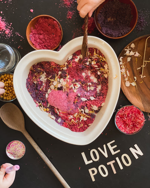 mixing up the love potion