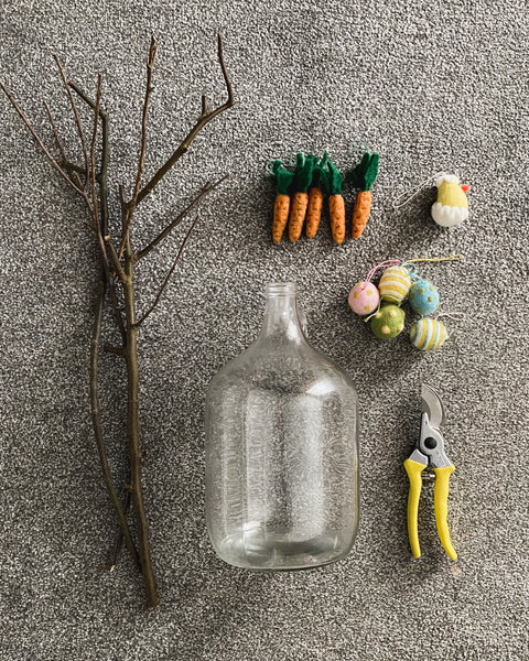 what you need to make this diy twig tree