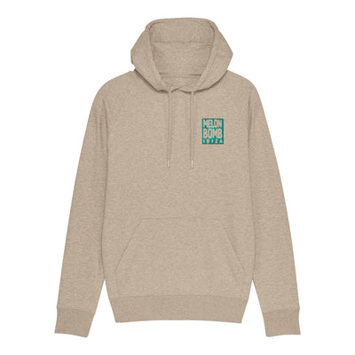 Melon Bomb Embroidered Square Logo Men's Flyer Iconic Hoodie-My Essential