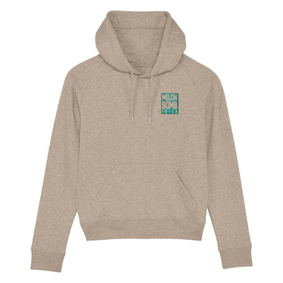 Melon Bomb Embroidered Square Logo Women's Trigger Iconic Hoodie-My Essential