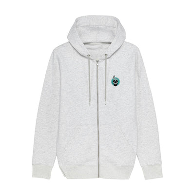Melon Bomb Embroidered Skull Logo Unisex Iconic Zip-through Hoodie-My Essential