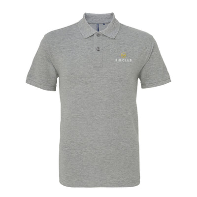 Rib Club Yellow And White Embroidered Logo Men's Polo T-Shirt-My Essential