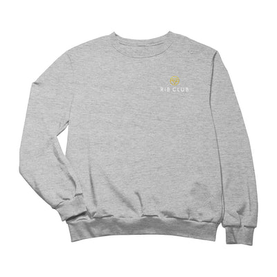 Rib Club Yellow And White Embroidered Logo Men's Sweatshirt-My Essential