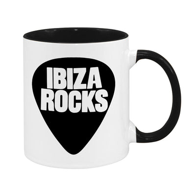 Ibiza Rocks Black Logo Two Colour Mug-My Essential