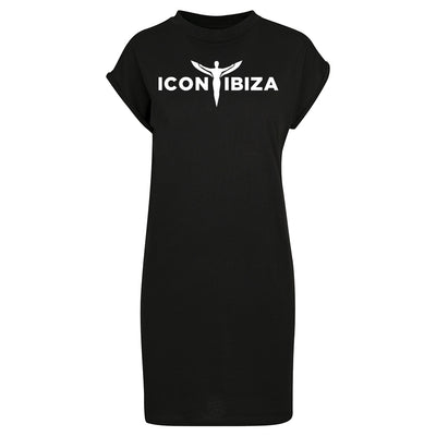 Icon Ibiza Logo Women's Turtle Next Extended Shoulder Dress-My Essential