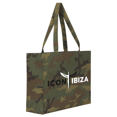 Icon Ibiza Camouflage Woven Shopping Bag-My Essential