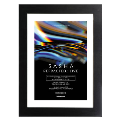 DJ Shasha Refracted Live Poster A3 and A4 Prints (framed or unframed)-My Essential