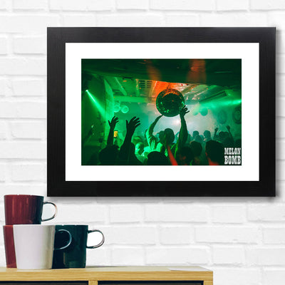 Melon Bomb Green Light Club Photograph A3 Framed Print-My Essential