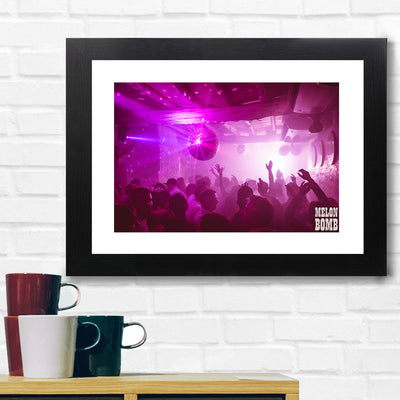 Melon Bomb Purple Light Club Photograph A3 Framed Print-My Essential