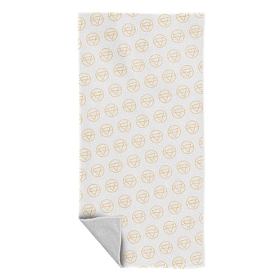Rib Club Yellow Logo Pattern Beach Towel-My Essential
