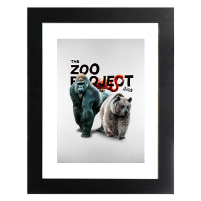 The Zoo Project Gorilla Toad Flamingo And Bear A3 Framed Print-My Essential