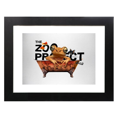 The Zoo Project Frog In The Tub A3 Framed Print-My Essential