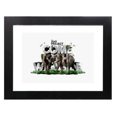 The Zoo Project Come To The Wild Side A3 Framed Print-My Essential