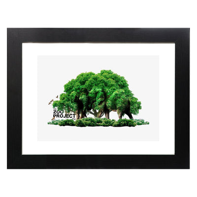 The Zoo Project Camouflaged Elephants A3 Framed Print-My Essential