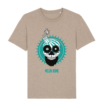 Melon Bomb Logo And Text Front And Back Print Men's Organic T-Shirt-My Essential