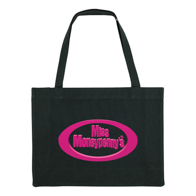 Miss Moneypenny's Pink Oval Logo Woven Shopping Bag-My Essential