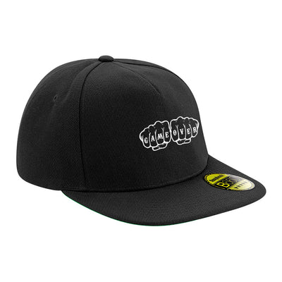 Game Over Embroidered Logo Flat Peak Snapback Cap-My Essential