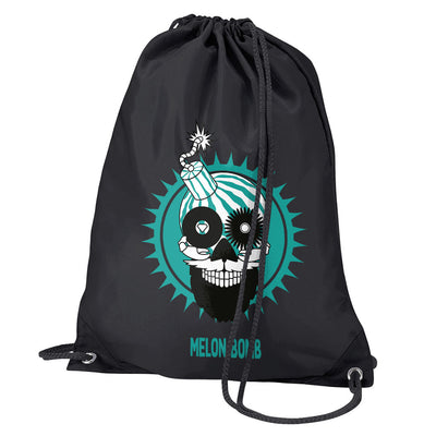 Melon Bomb Logo Water Resistant Sports Gymsac Drawstring Day Bag-My Essential