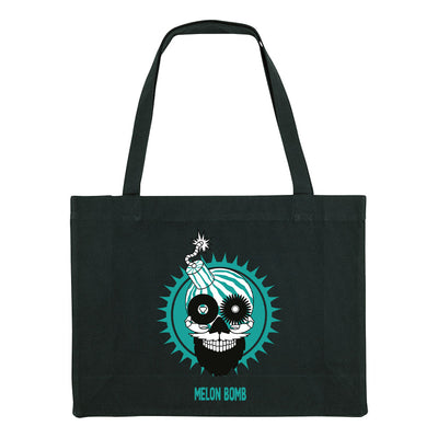 Melon Bomb Logo Woven Shopping Bag-My Essential