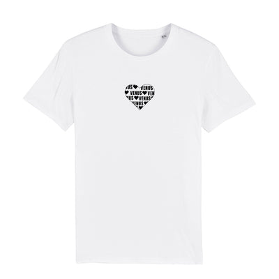 Venus Ibiza Black Heart Logo Front And Back Print Men's Organic T-Shirt-My Essential