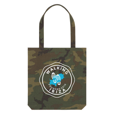 Walking Ibiza 2010 White Badge Camouflage Woven Tote Bag-My Essential