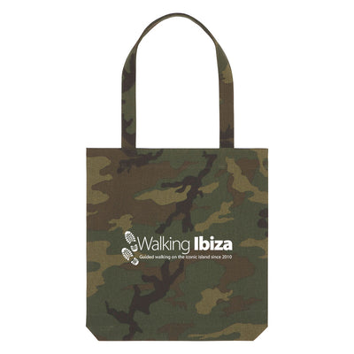 Walking Ibiza Since 2010 White Camouflage Woven Tote Bag-My Essential