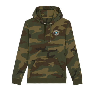 Walking Ibiza 2010 White Badge Front And Back Print Camo Hooded Sweatshirt-My Essential
