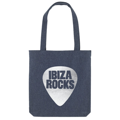 Ibiza Rocks Metallic Silver Logo Woven Tote Bag-My Essential