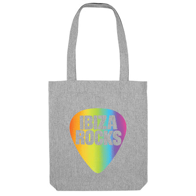 Ibiza Rocks Shimmer Rainbow Logo Woven Tote Bag-My Essential