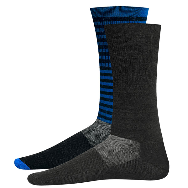 Charcoal Grey & Striped Blue Black